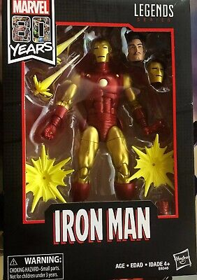 Marvel Legends Iron Man 80th Anniversary6-Inch Action Figure New In Box!!