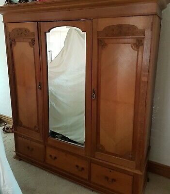 large antique wardrobe 77inches wide 82inches high 20 inches depth good conditi