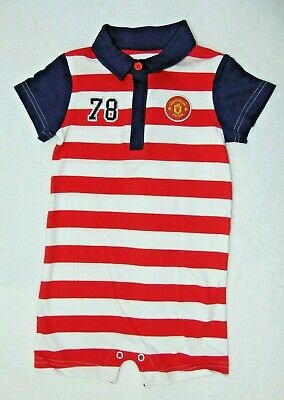 Manchester United F.C Fred The Red Baby Romper Suit Playsuit Age 3-6 Months