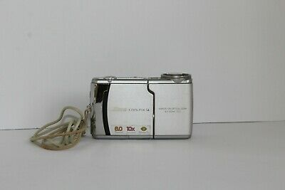 Nikon COOLPIX S4 6.0MP Digital Camera - Silver NOT TESTED