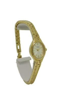 Caravelley by Bulova 48J51 Women's Champagne Tone Oval Analog Watch