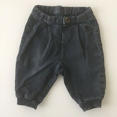Bobo Choses Baby Balloon Washed Black Trousers Jeans 6-12M