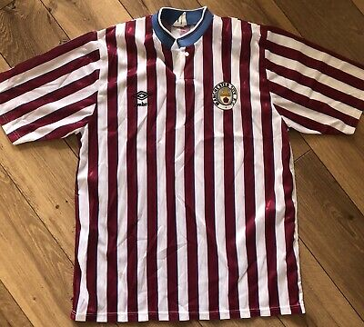 1988-1990 Manchester City Retro Vintage Football Shirt - Large / 42""