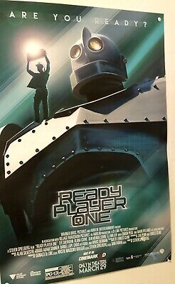 """Ready Player One movie poster - 11"""" x 17"""" - Iron Giant, New Cinemark Version"""