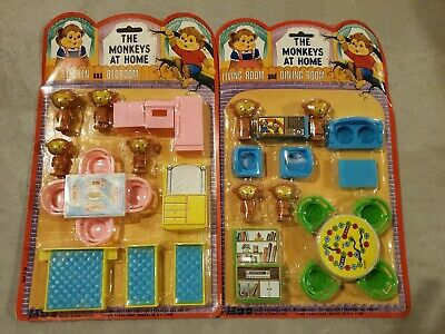 The Monkeys At Home Dollhouse Furniture Sets