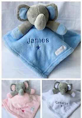 Personalised Baby Comforter Name Soft Fleece Blanket Blankie Taggie Baby Gift