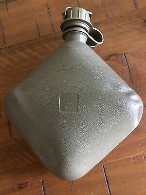 3 Pack U.S. Military Genuine Issue Collapsible Canteen, O.D. Green with NBC Cap.