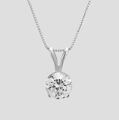 Affordable Natural Earth-Mined Diamond Pendant 1/2 CT Round D/SI1 950 Platinum