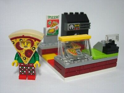 LEGO 71025 Minifigures Series 19 Pizza Costume Guy with custom pizza shop