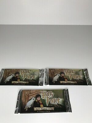Harry Potter And The Sorcerers Stone Movie Trading Cards (3) packs
