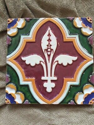 Victorian Gothic Revival Antique Tile Minton Hollins Pugin