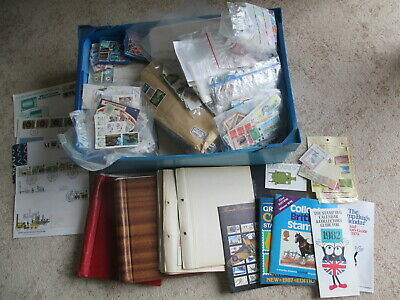 Glory Box Full Of Allsorts, Stamp Collections, Covers, Yearbooks, Kiloware Etc L