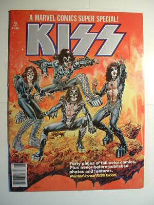 Marvel Comics Super Special #1 - 1977 - KISS !!! Printed With KISS BLOOD!!