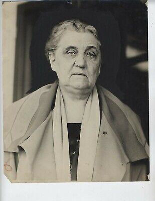 1927 Jane Addams Nobel Prize Vintage Photo 8X10 Inch Original N.a.a.c.p.