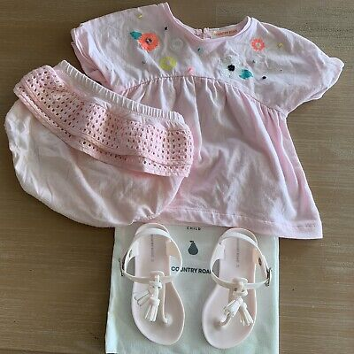 Country Road Outfit 00 Girls Pink 3-6 Months + Size 22 Shoes