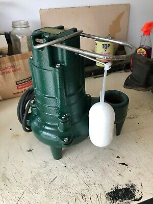"ZOELLER M267 Waste-Mate 1/2 HP 2"" Auto Submersible Sewage Pump 115V Vertical"