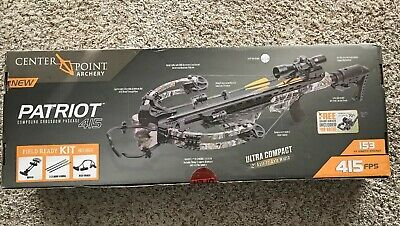 Center Point Camo Patriot 415 Compound Crossbow Package Model#Axcaw200Ckpd New!