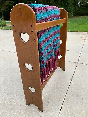 Hand Crafted Oak Quilt Rack