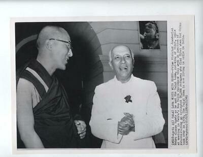 Tibet, 1961 New Delhi India refugees rare photo Prime Minister Nehru Dalai Lama