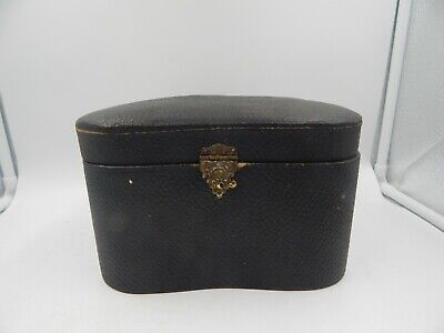 Vintage Collar Box Hat Box Leather Victorian Style