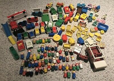HUGE Fisher Price little People Lot - 60 Figures & 50+ other pieces Vintage Toys