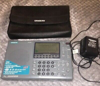 Sangean ATS 909 Portable Short Wave Radio with AC adapter And Case