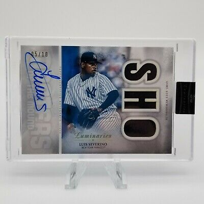 2019 Topps Luminaries Baseball Luis Severino Encased Auto 3 Patch 05/10 Yankees