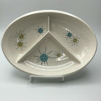 Franciscan STARBURST Divided Relish or Child's Plate MCM Atomic Mid Century EUC