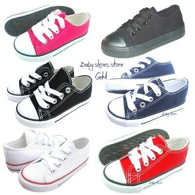 Toddler kids boys girls low top canvas tennis shoes 6-10 new