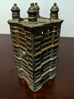 Antique cast iron money box - Park Row building in Manhattan - A.C.Williams
