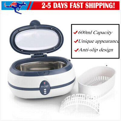 600ml Ultrasonic Cleaner Multi Purpose Jewellery Industrial +Tank Timer Wq