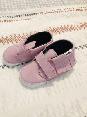 Baby Girl Vans Shoes Pink Size 3 Brand New Lightweight