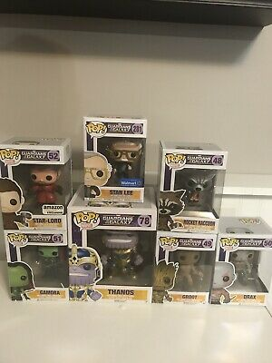 Pop Funko Marvel: Guardians of the Galaxy Vol 1 set lot of 7 Plus Bonus Groot