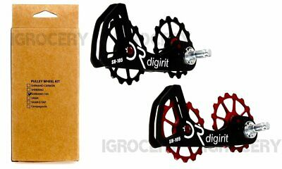 DIGIRIT Oversized Ceramic Pulleys Wheel 16//16T System Sram//Force NIB Black /& Red
