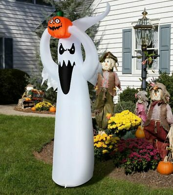 Ghost Inflatable with Pumpkin 6 Ft Halloween Yard Decoration Airblown LED