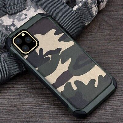 For iPhone 11 Pro Max Case Camo Heavy Duty Shockproof Tough Bumper Hybrid Armor