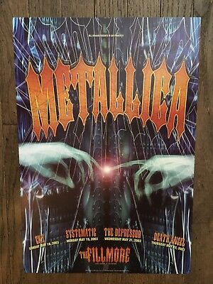 Metallica Poster The Fillmore San Francisco 2003 Rex Ray Cky Systematic