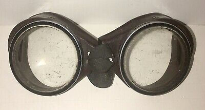 Antique Dockson Green Goggles Sunglasses Safety Glasses Vtg Retro Old Halloween
