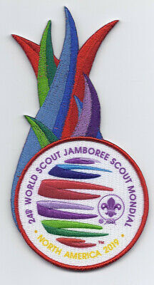 2019 World Jamboree Flames Badge Patch