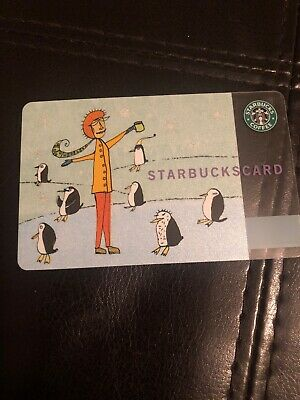 """RARE! 2003 Starbucks Japan """"Penguin"""" Gift Card No Value Collectors Card Only"""