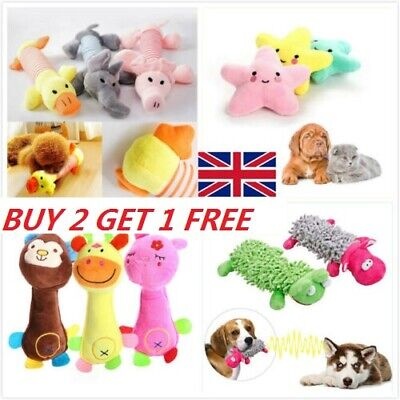 Funny Soft Pet Puppy Chew Play Squeaker Squeaky Cute Plush Sound Dog Toys #