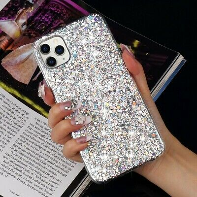 For iPhone 11 Pro XS Max XR X 8 7 Plus Glitter Shockproof Protective Case Cover