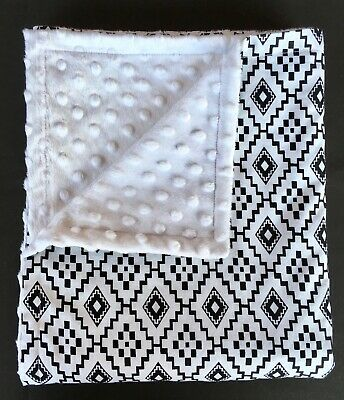 Baby Blanket - Cotton And Minky Dot - Brand New - Quality Handmade
