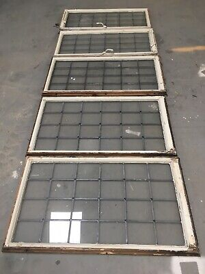 Vintage Leaded Glass Windows  Architectural Old - Art Deco / Antique Glass