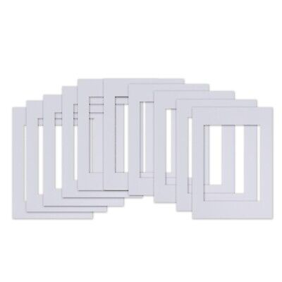 10pcs Picture Mat Kit Matting White For Art Picture Photo Frame A4 Size