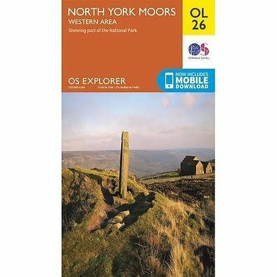 North York Moors - Western Area by Ordnance Survey (Sheet map, folded, 2015)
