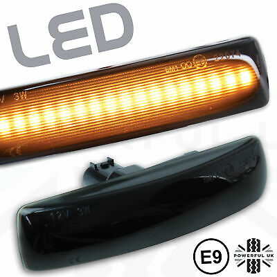 LED Smoked flasher side repeaters front wing Indicators fits Freelander 2