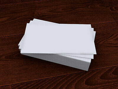 White Blank Business Cards ~Double Sided Glossy 300gsm - 90 x 50mm