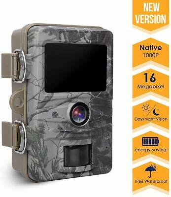 Game Trail Camera, 16MP 1080P Wildlife Camera IP66 Waterproof with 120¡Wide Angl