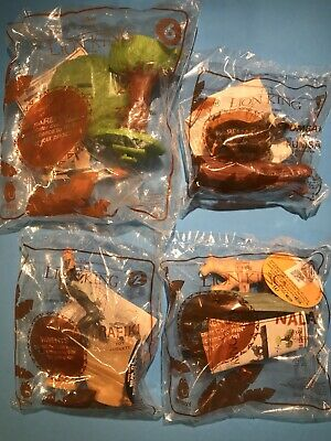 McDonalds THE LION KING Happy Meal Toys 2019 DISNEY Lot Of 4 New In Sealed Bag